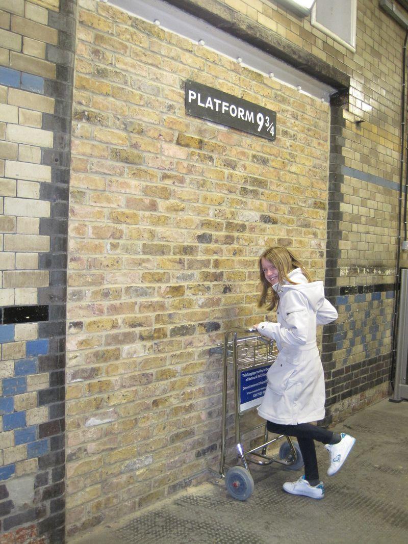Katie Prestage at Platform 9 3/4